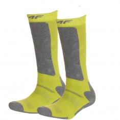4F Ski Socks, 2 pair, kids, lemon