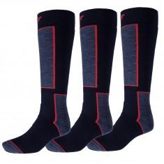 4F Ski Socks, 3 pair, men, dark navy