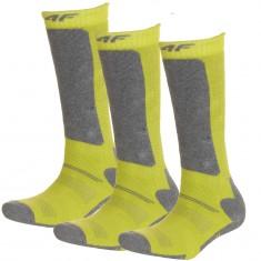 4F Ski Socks, 3 pair, kids, lemon