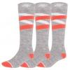 4F 3 pair Ski Socks, women, deep black