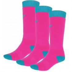 4F skistrømper, 3 par, børn, pink