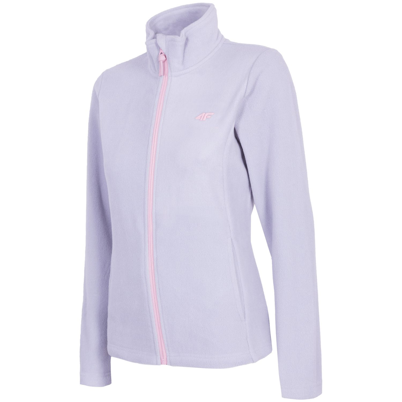 4F fleece jacket, women, light grey