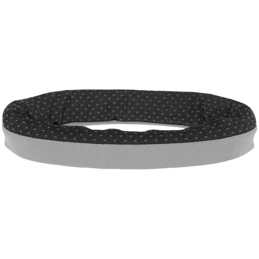 4F neck warmer w/ print, black