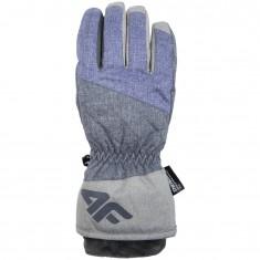 4F NeoDry ski gloves, womens, violet