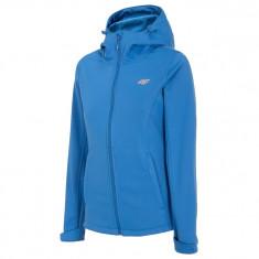 4F Rose, softshell jacket, women, blue