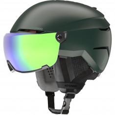 Atomic Savor Visor Stereo, Skihjelm med Visir, Dark Green