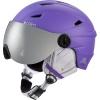 Cairn Electron, junior ski helmet with visor, mat white