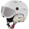 Cairn Spectral Visor Magnet 2, ski helmet with visor, mat white