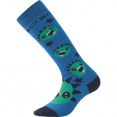 Cairn Spirit ski socks, 2-pack, kids, azure monster