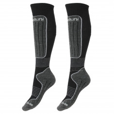 Deluni junior ski socks, 2 pairs, black
