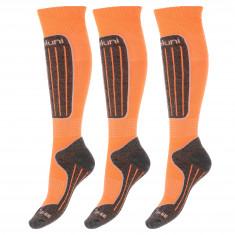 Deluni skistrømper, 3 par, orange