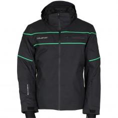 DIEL Alfred ski jacket, men, black/green