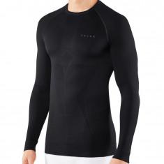Falke Maximum Warm Long Sleeve Shirt, Tight Fit, Herre, Black