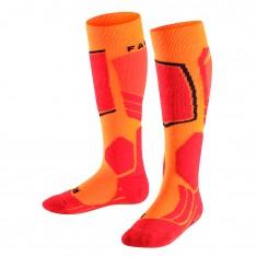 Falke SK2 ski socks, kids, flash orange