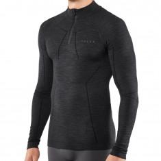 Falke Wool-Tech Zip Shirt Comfort, herre, sort