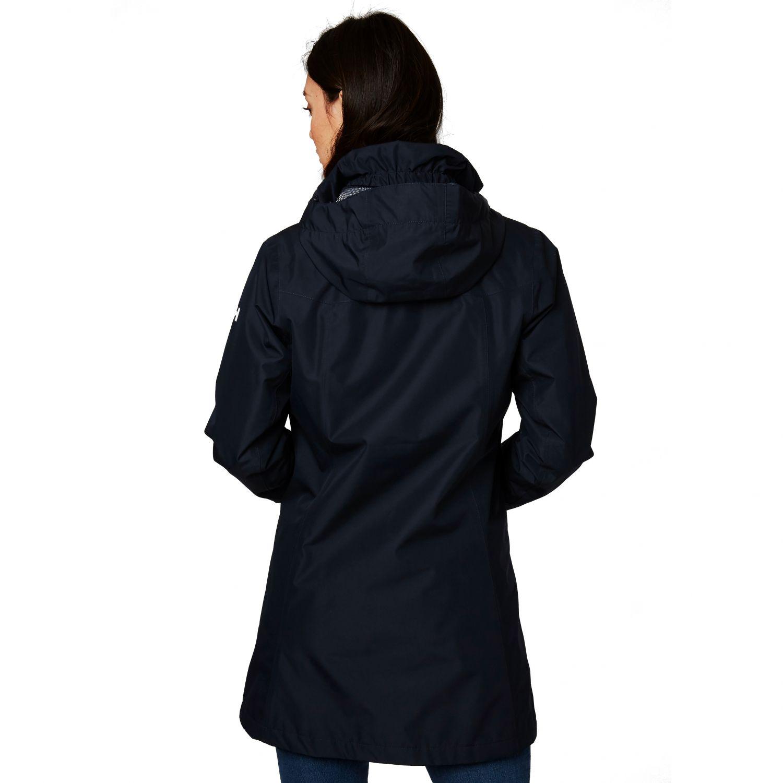 Helly Hansen Aden Long Insulated regnfrakke, mørkeblå
