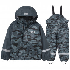Helly Hansen Bergen AOP PU, rain set, kids, trooper camo