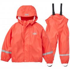 Helly Hansen Bergen PU, rain set, kids, hot coral