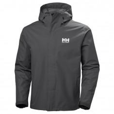 Helly Hansen Seven J, mens Rain jacket, charcoal