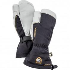 Hestra Army Leather Gore-Tex 3-finger Skihansker, Black