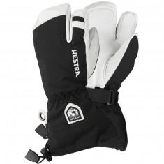 Hestra Army Leather Heli 3-finger ski gloves, jr, black