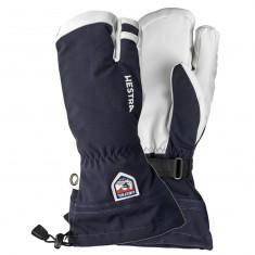 Hestra Army Leather Heli 3 finger ski gloves, marin