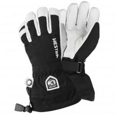 Hestra Army Leather Heli ski gloves, jr, black