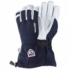 Hestra Army Leather Heli ski gloves, marin