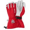 Hestra Army Leather Heli ski gloves, red