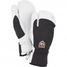 Hestra Army Leather Patrol 3-finger Skihansker, Black