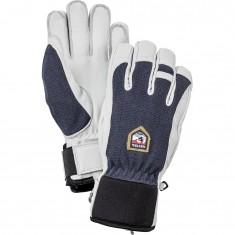 Hestra Army Leather Patrol ski gloves, marin