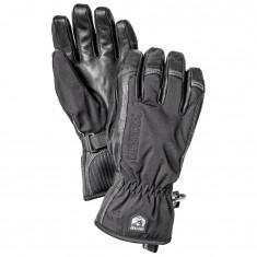 Hestra Army Leather Softshell Skihansker, Black