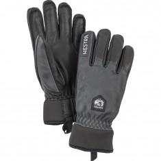 Hestra Army Leather Wool Terry ski gloves, grey/black