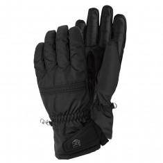 Hestra Primaloft Leather ski gloves, women, black