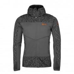Kilpi Assasin-M, mens fleece midlayer hoodie, dark grey