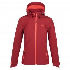 Kilpi Ravia, softshell jacket, women, dark red