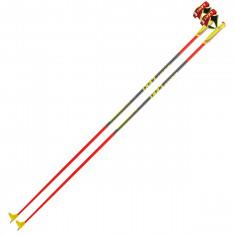 Leki PRC 700, ski poles, neonred