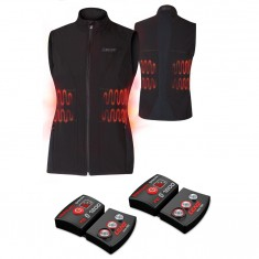 Lenz Heat Vest 1.0 + Lithium Pack rcB 1800, dame, black