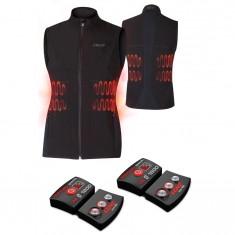 Lenz Heat Vest 1.0 + Lithium Pack rcB 1800, women, black