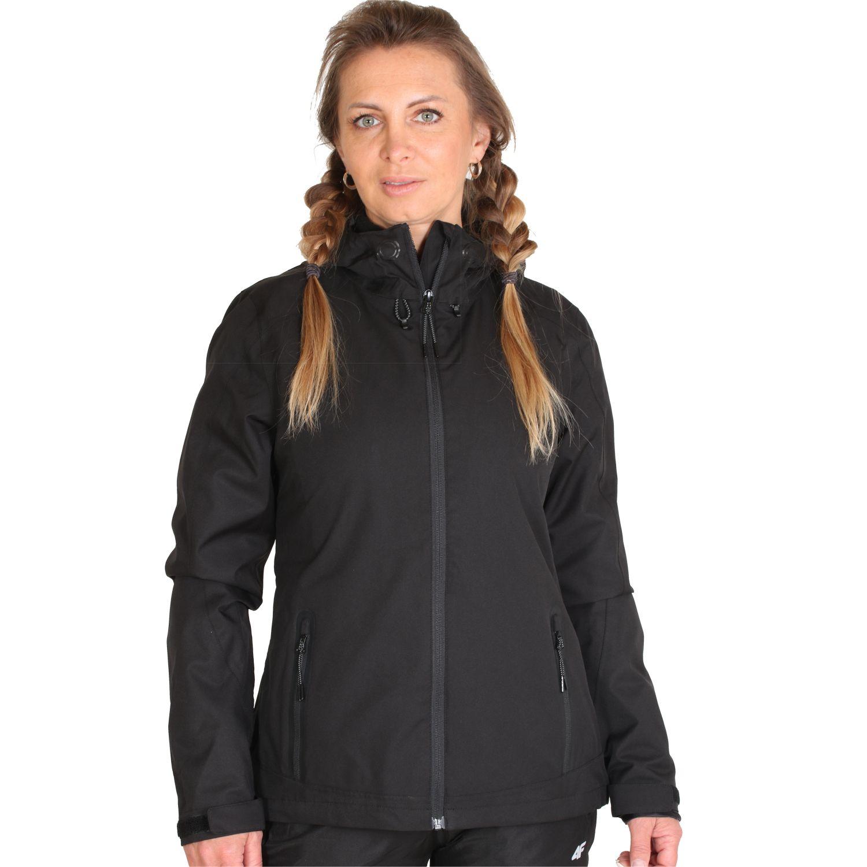 4F Linda, rain jacket, women, black