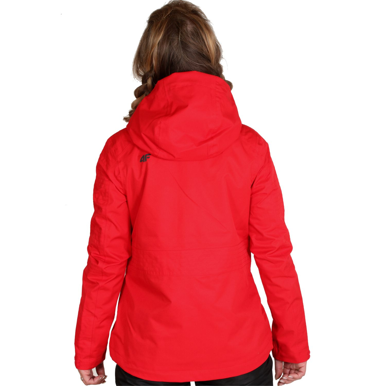 4F Lydia, rain jacket, women, red