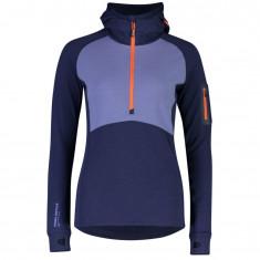 Mons Royale Ascend Midi Half Zip Hood, dame, blue velvet