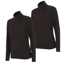 Outhorn Midela 1/4 zip fleecepulli, womens, black, 2-pack