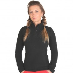 Outhorn Midela 1/4 zip fleecepulli, womens, black