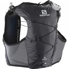 Salomon Active Skin 4, løberygsæk, grå/sort