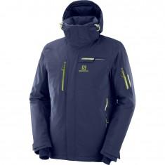 Salomon Brilliant JKT M, ski jacket, men, blue