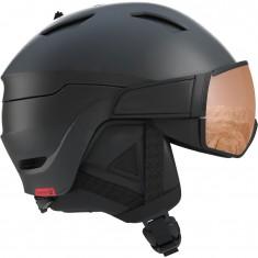 Salomon Driver S, Skihjelm med Visir, Black/Red