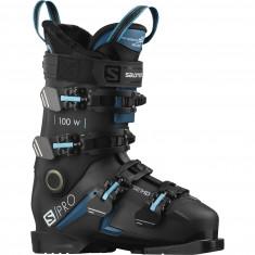 Salomon S/Pro 100 W, Skistøvler, Dame, Black/Blue/Scuba