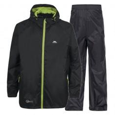 Trespass Qikpac, rain suit, junior, black