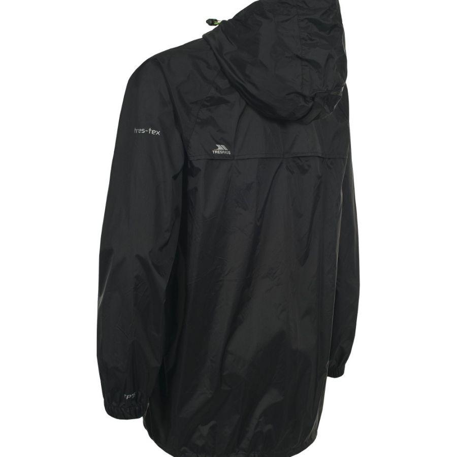 Trespass Qikpac, regnsæt, junior, sort